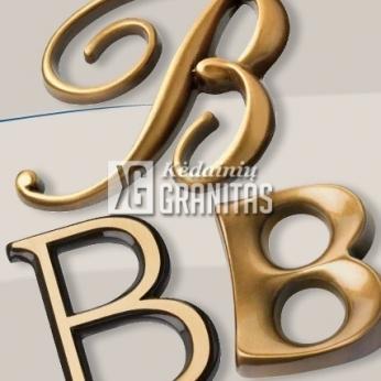 CAGGIATI bronzinės raidės